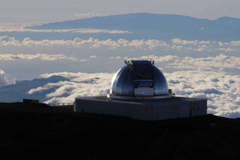 A telescope at the summit of Mauna Kea, Hawaii's tallest mountain, is shown in July 2019. (AP P ...
