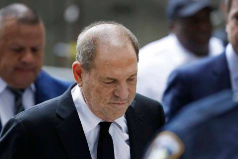 Harvey Weinstein arrives in court, Monday, Aug. 26, 2019, in New York. Weinstein's lawyers want ...
