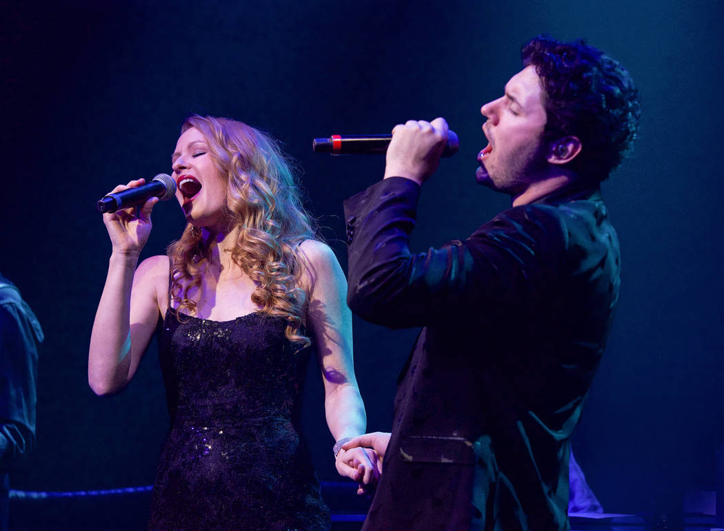 "Daniel Emmet and Heidi Webster are shown in ""All That I Am"" premiere at Caesars Palace in Las V ..."