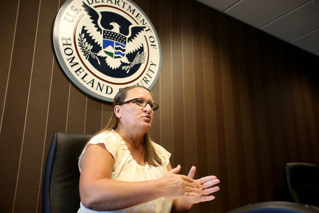 Dana Fishburn, the acting deputy field office director for ICE in Nevada, talks about issues fa ...