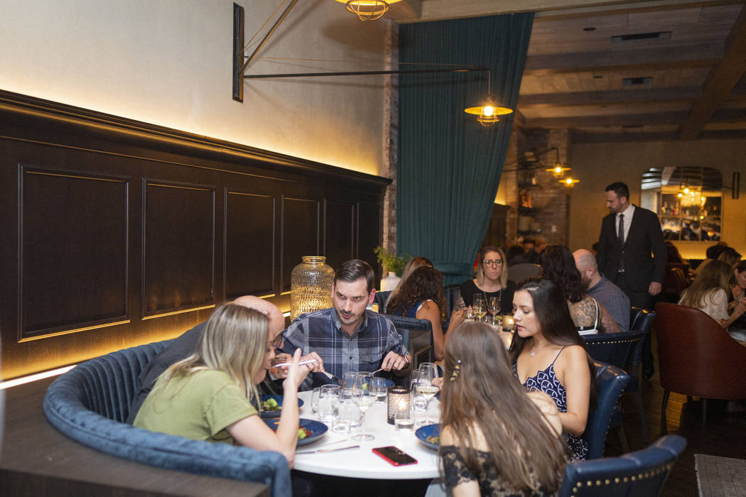 Guests dine during the recreation of the Vegans, Baby James Beard Dinner, hosted at Catch Las V ...
