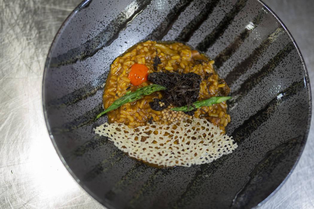 Arroz meloso con setas bomba Rice with morel and chanterelle mushrooms by Chef Oscar Amador of ...