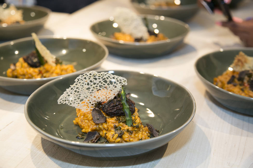 Photo by Rinah Oh Arroz Meloso, a vegan dish served at the James Beard House in New York City.