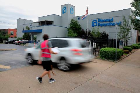 In a June 21, 2019, file photo, a motorist enters Planned Parenthood of the St. Louis Region an ...