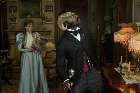 "Tamzin Merchant and David Gyasi star in ""Carnival Row."" (Amazon Prime)"