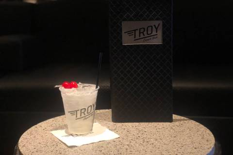 Troy Liquor Bar at Golden Nugget Las Vegas makes a White Gummy Bear cocktail. (Janna Karel Las ...