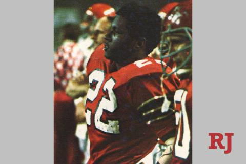 Former UNLV running back Mike Thomas in an undated photo. He died Friday at 66. (UNLV athletics)