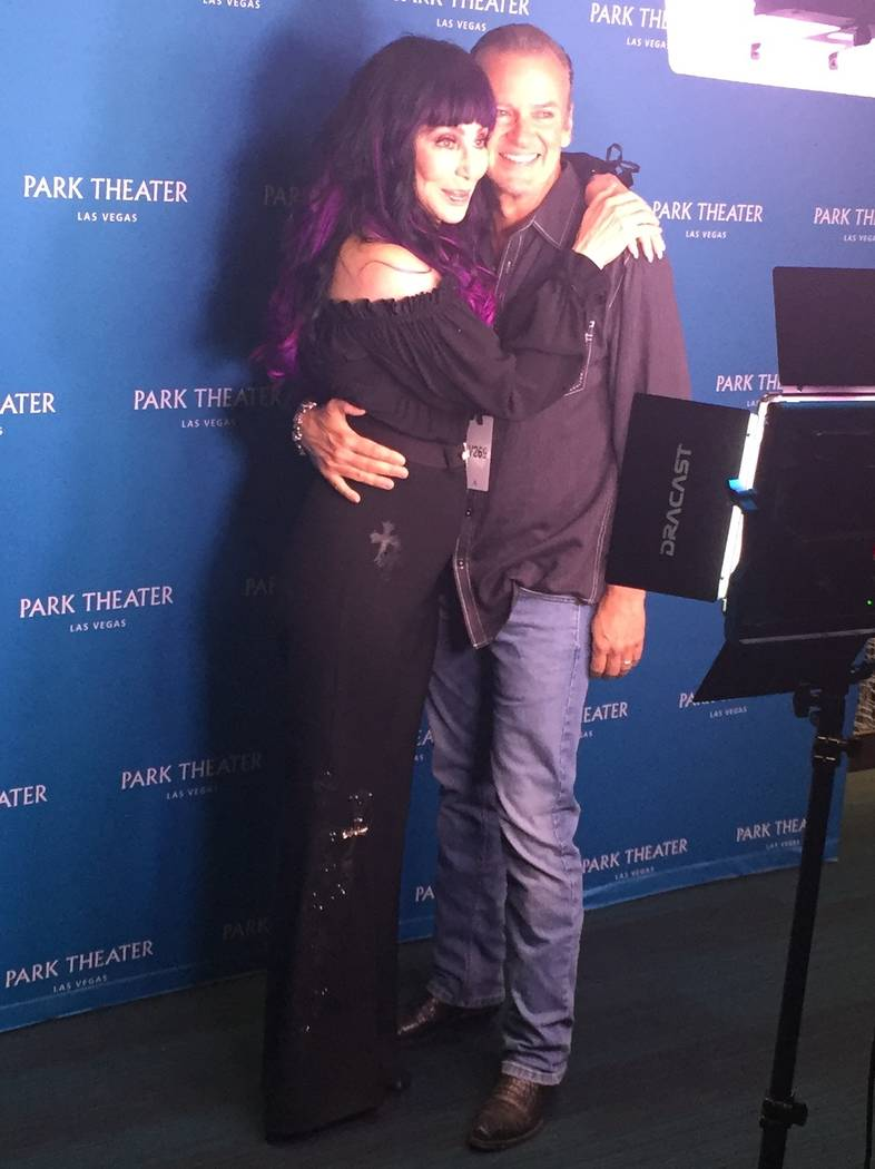 Las Vegas entertainer Troy Burgess, a former backing dancer for Cher, reunites with the superst ...