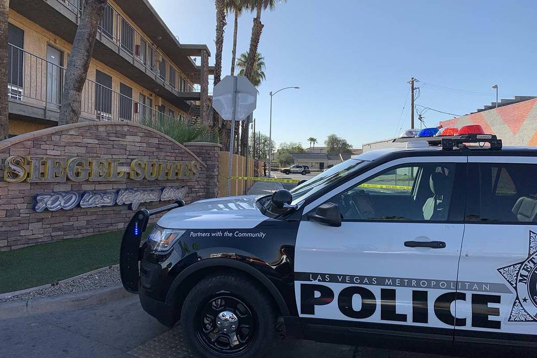 A man was wounded in a shooting at Siegel Suites, 700 Las Vegas Blvd. North, near Bonanza Road, ...