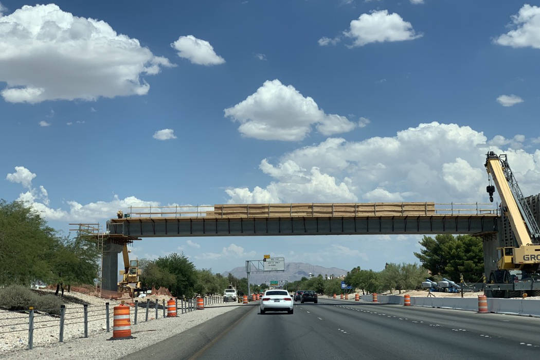 A $9 million pedestrian bridge crossing Summerlin Parkway will link a large segment of the comm ...
