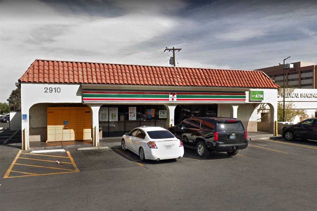 A 7-Eleven at 2910 S. Maryland Parkway in Las Vegas is seen in a screenshot. (Google)