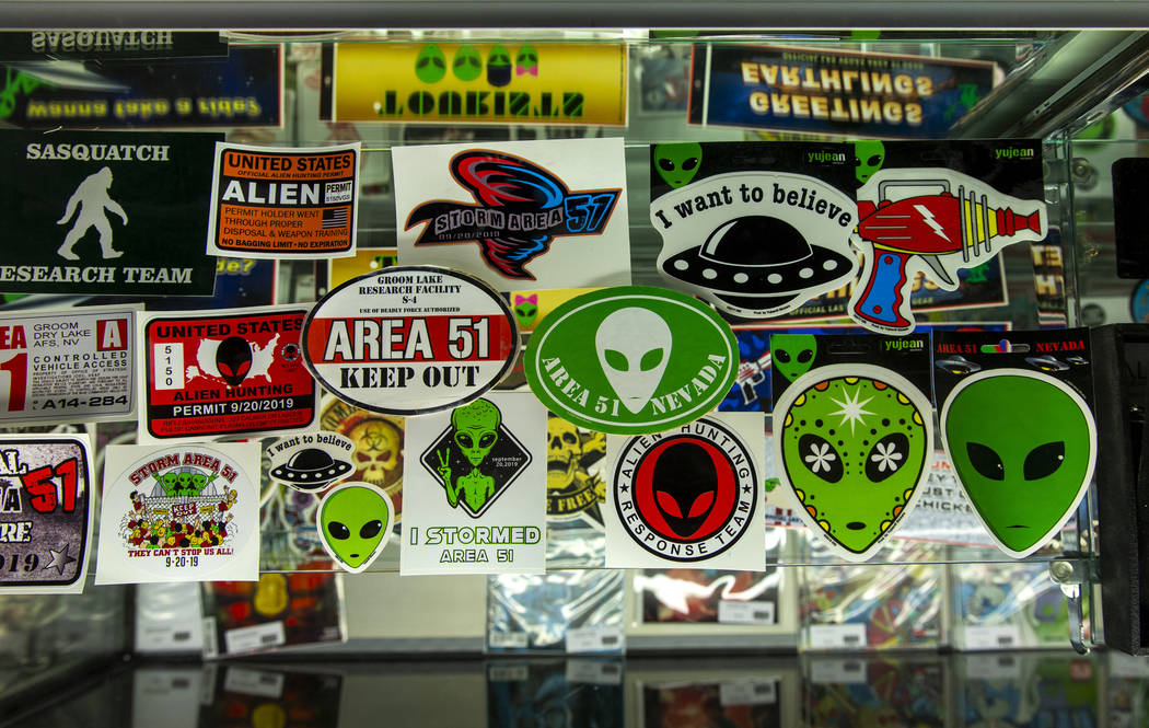 The Alien Research Center offers various stickers while being a gathering site for the upcoming ...