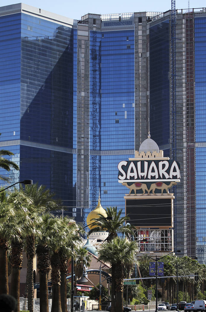 The closed Sahara hotel - which later reopened as the SLS Las Vegas - is seen in front of the u ...
