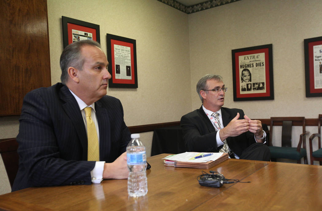 Superintendent Jesus Jara and CCSD Chief Financial Officer Jason A. Goudie discusses the possib ...
