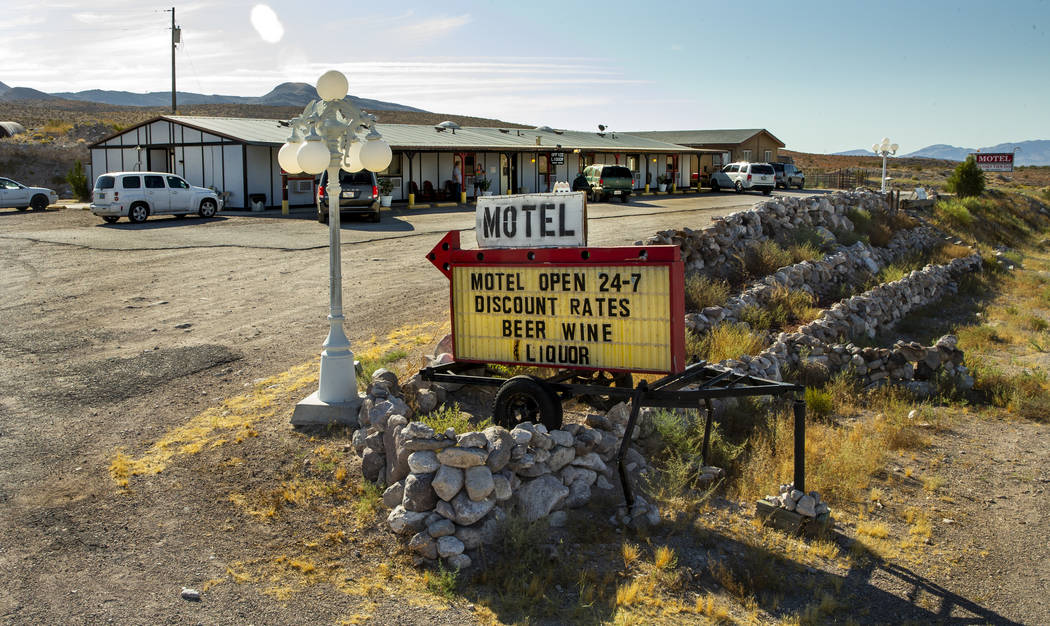 The Sunset View Inn on U.S. Route 93 is already booked yet is still a good spot for liquor pur ...