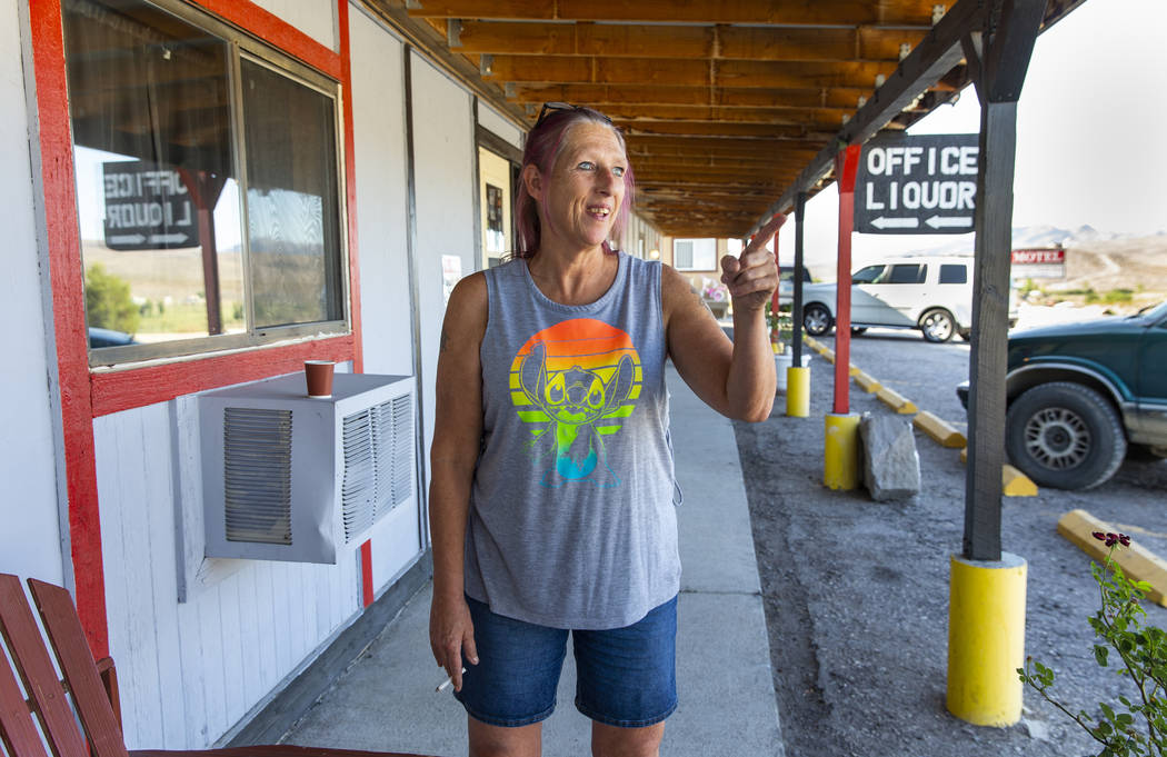 The Sunset View Inn owner Pam Broxson on U.S. Route 93 talks about already being booked yet th ...