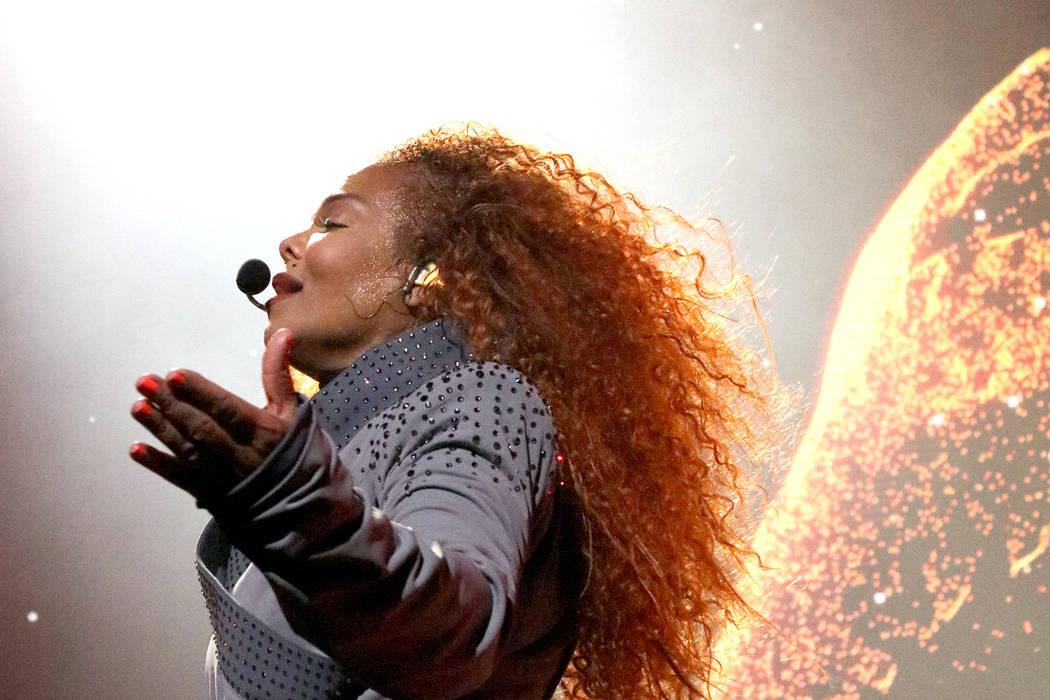 Janet Jackson performs onstage during the opening night of her Metamorphosis - The Las Vegas Re ...