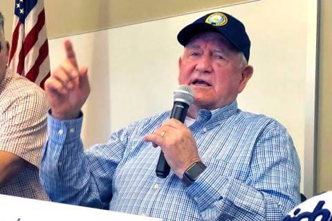 U.S. Agriculture Secretary Sonny Perdue speaks at an Ag Policy Summit during a visit Wednesday, ...