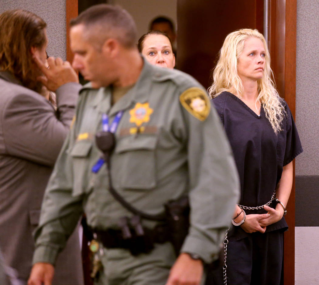 Korey Hooper, right, and Norma Snyder in court at the Regional Justice Center in Las Vegas for ...