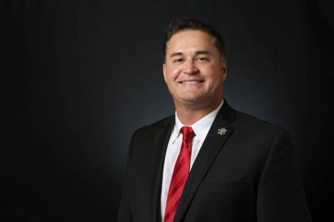Jimmy Vega, candidate for Constable North Las Vegas, is photographed at the Las Vegas Review-Jo ...