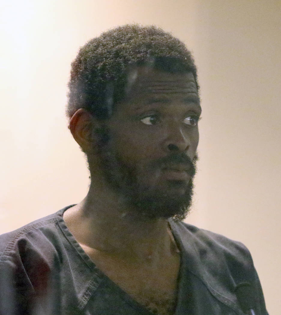 Clinton Taylor, accused of killing a woman with a sledgehammer, appears in court at the Regiona ...