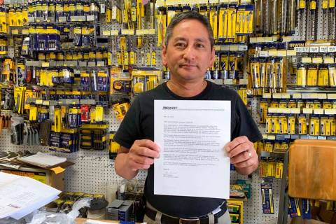 In this photo taken Wednesday, Aug. 28, 2019, Albert Chow, owner of Great Wall Hardware in San ...