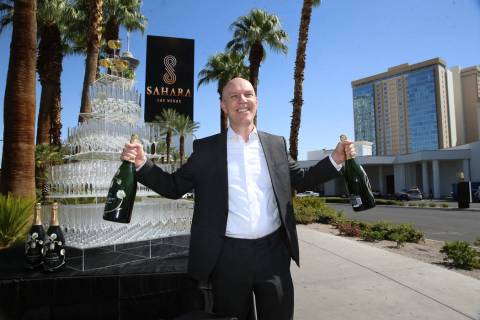Paul Hobson, general manager for the Sahara Las Vegas hotel-casino, poses outside of the Sahara ...