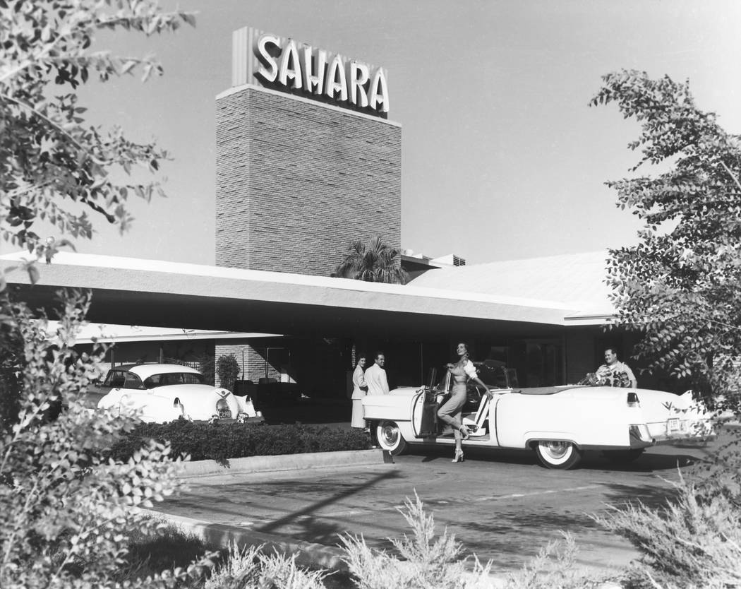 The Sahara hotel in Las Vegas is seen in the 1950s. (Las Vegas Review-Journal file photo)