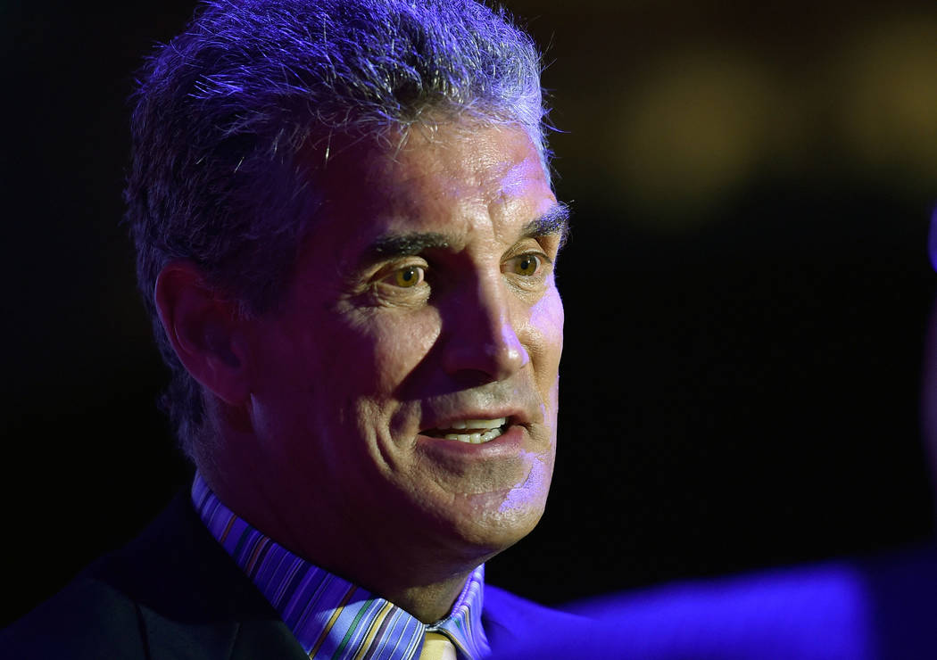 Former NFL quarterback Glenn Carano appears at the Southern Nevada Sports Hall of Fame inductio ...