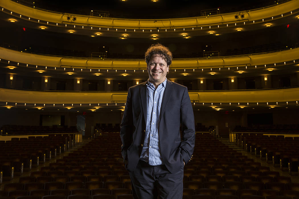 Las Vegas Philharmonic conductor Donato Cabrera on Friday, May 10, 2019, at The Smith Center fo ...