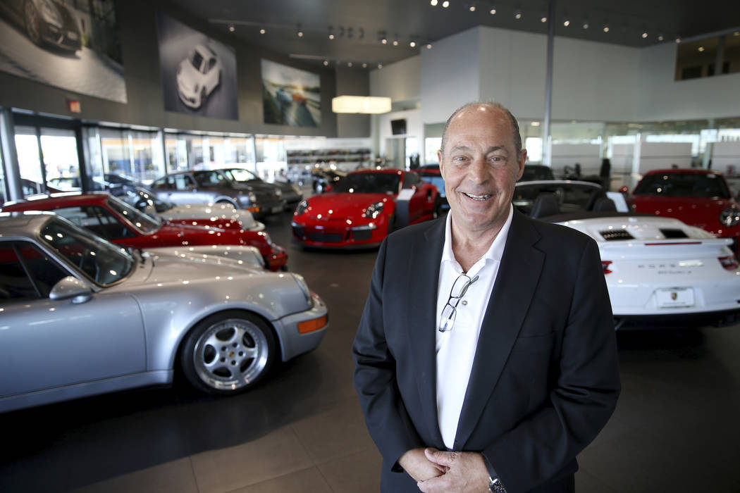Jim Mooradian, general manager at Gaudin Porsche in Las Vegas Friday, Aug. 30, 2019. Porsche is ...