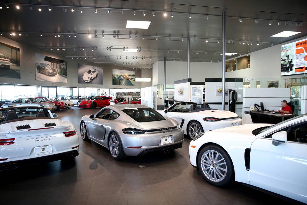 Gaudin Porsche in Las Vegas Friday, Aug. 30, 2019. Porsche is expanding its app-based subscript ...