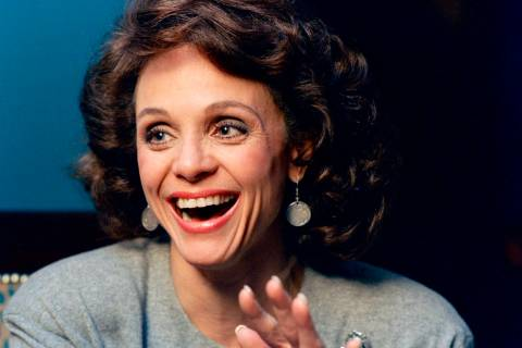 Actress Valerie Harper laughs during an interview in New York in 1987. (AP Photo/Ron Frehm)