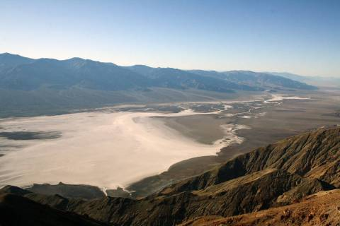 Badwater Basin, as seen from Dante's View, in Death Valley National Park. (Deborah Wall/Las Veg ...