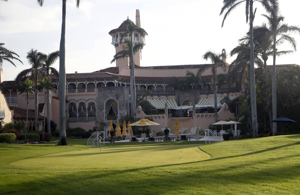 In this Nov. 24, 2017, file photo shows President Donald Trump's Mar-a-Lago resort in Palm Beac ...