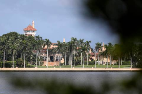 President Donald Trump's Mar-a-Lago resort is shown, Friday, Aug. 30, 2019, in Palm Beach, Fla. ...