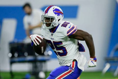 Buffalo Bills running back LeSean McCoy runs the ball before an NFL preseason football game aga ...