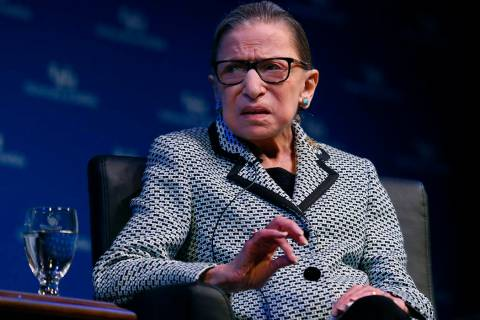 Supreme Court Associate Justice Ruth Bader Ginsburg speaks about her work and gender equality f ...