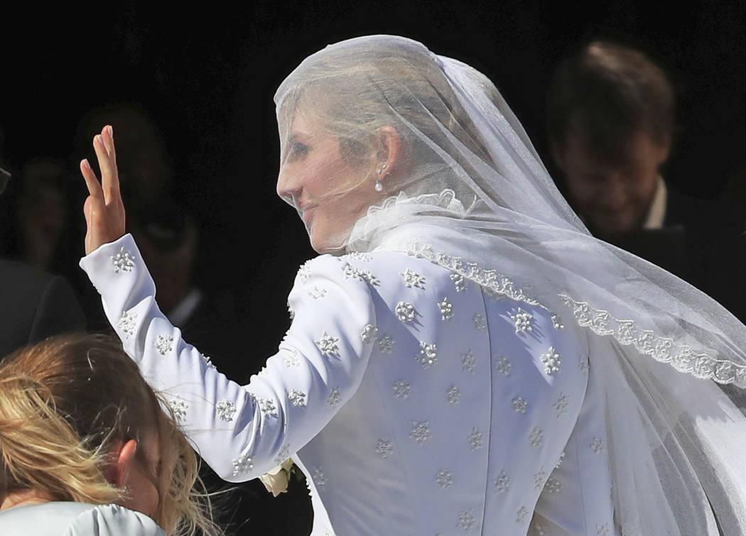 Ellie Goulding arrives at York Minster, York, England, for her wedding to Caspar Jopling, Satur ...
