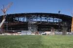Allegiant Stadium crews test grass for Raiders' field
