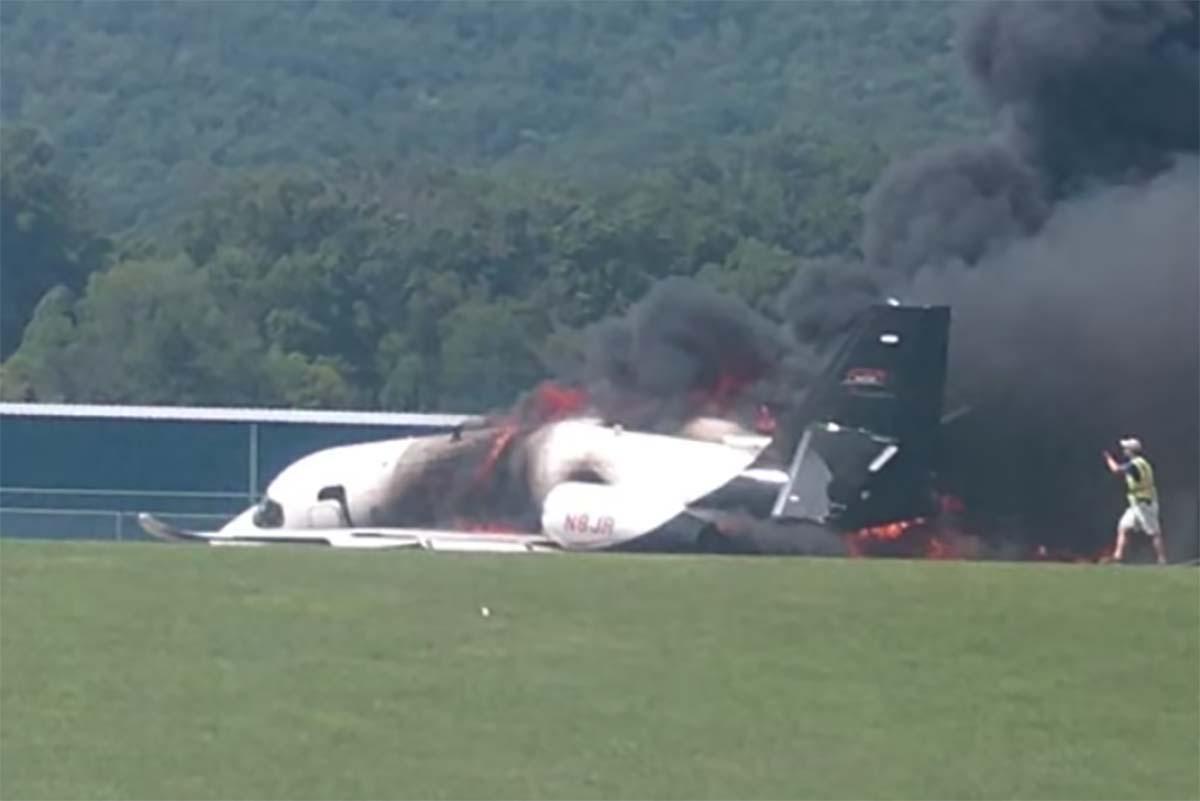 Dale Earnhardt Jr , family 'safe' after Tennessee plane