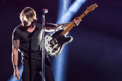"Keith Urban performs ""Never Comin' Down"" at the 52nd annual CMA Awards at Bridgestone ..."