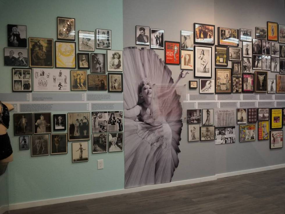 A look at the exhibit space at the Burlesque Hall of Fame, which celebrates its reopening on Ap ...