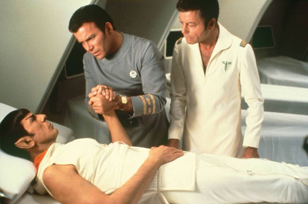 "Leonard Nimoy, William Shatner and DeForrest Kelley in ""Star Trek: The Motion Picture.&quo ..."