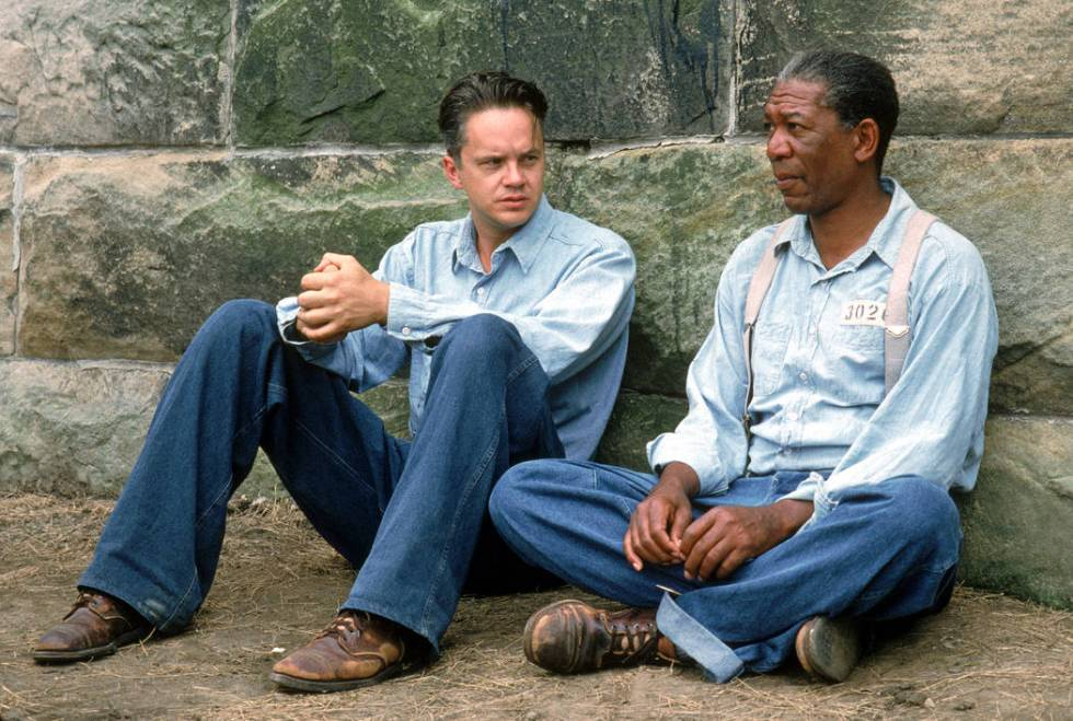 """Tim Robbins, left, and Morgan Freeman in a scene from """"The Shawshank Redemption."""" (Wa ..."""