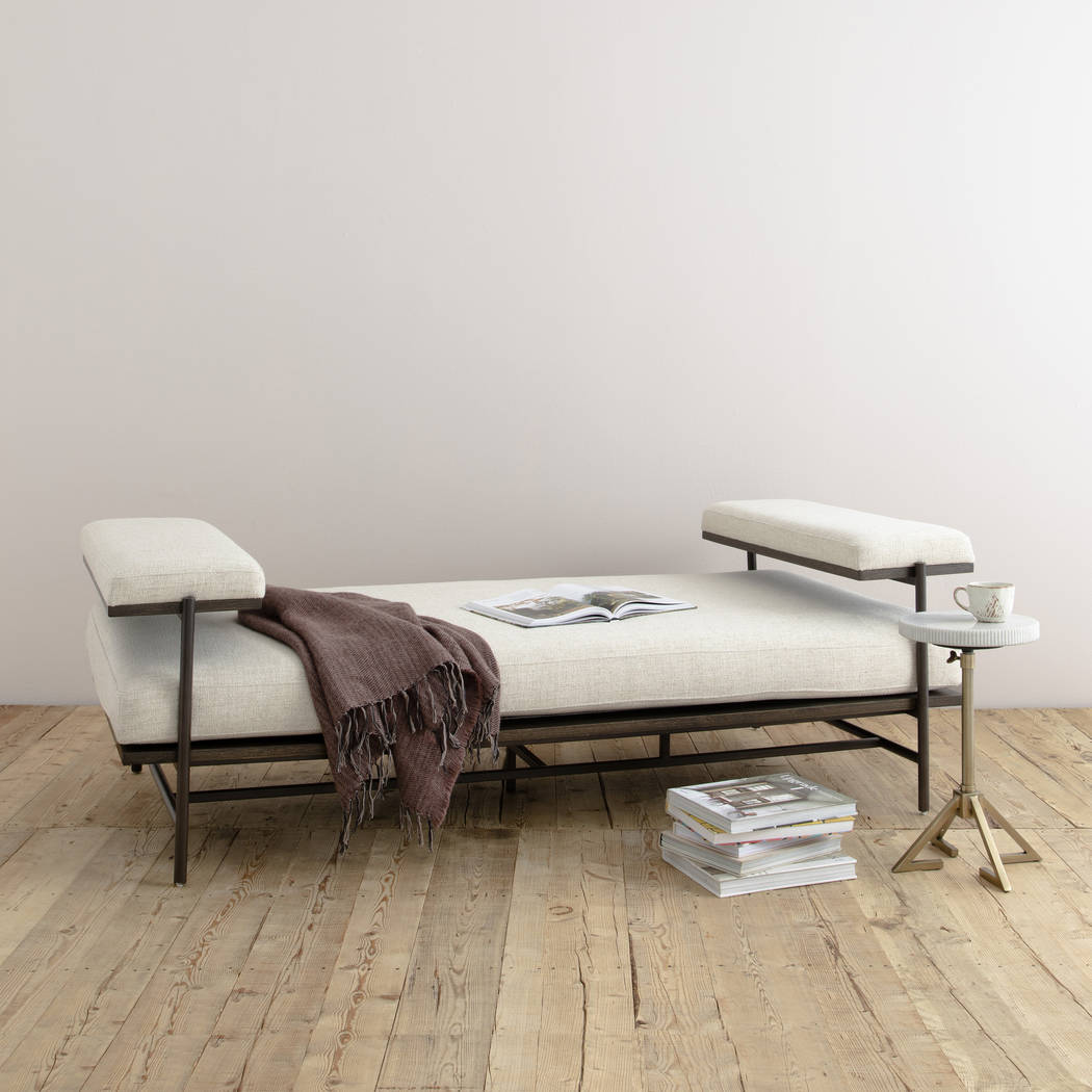 The Kennon Chaise from Four Hands is the ideal spot for sinking in or stretching out. Chaise-st ...