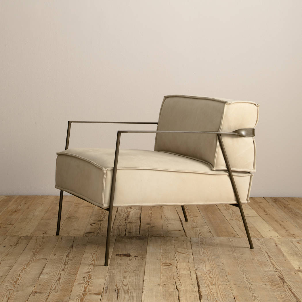 The Seth Chair from Four Hands is small in scale, big on style. Low, thick seating of top-grain ...