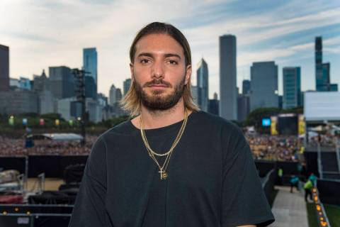 Alesso poses for a portrait on Day 2 of Lollapalooza in Grant Park, Friday, Aug. 2, 2019, in Ch ...