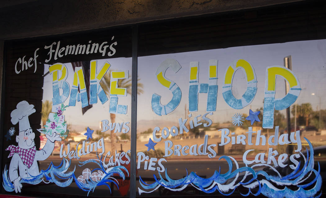 Chef Flemming's Bake Shop's window art located on South Water Street in Henderson on Wednesday, ...