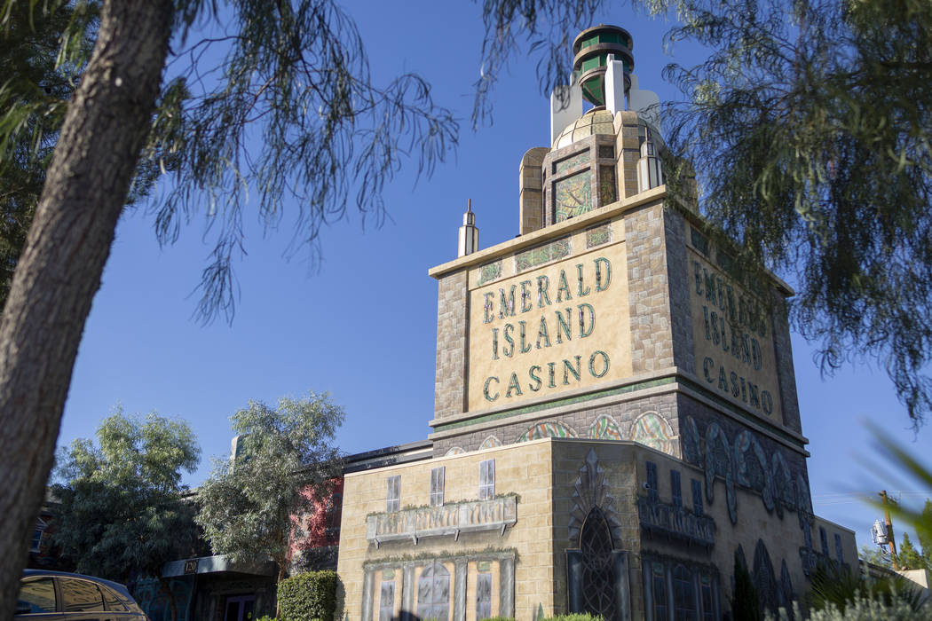 The Emerald Island Casino off South Water Street in Henderson on Wednesday, Aug. 28, 2019. (Eli ...